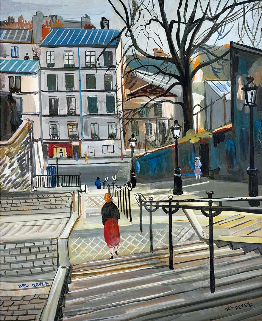 巴黎蒙马特高地的台阶