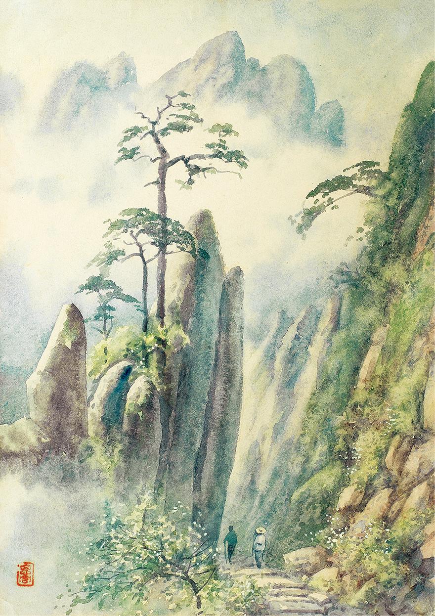 黄山风景·蓬莱三岛