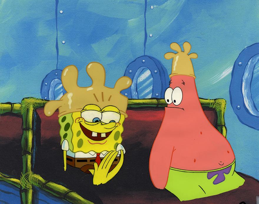 《海绵宝宝Spongebob》动画片赛璐璐4帧
