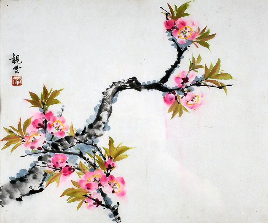 一枝桃花唤春来