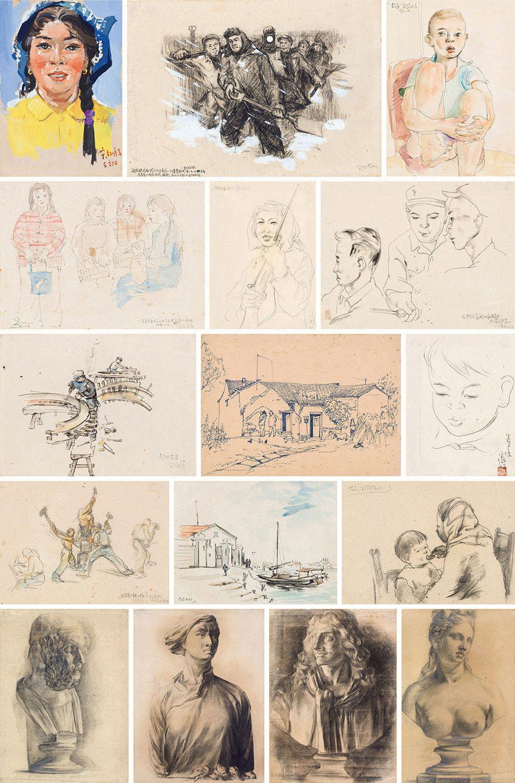 水彩和素描作品(共十六幅)