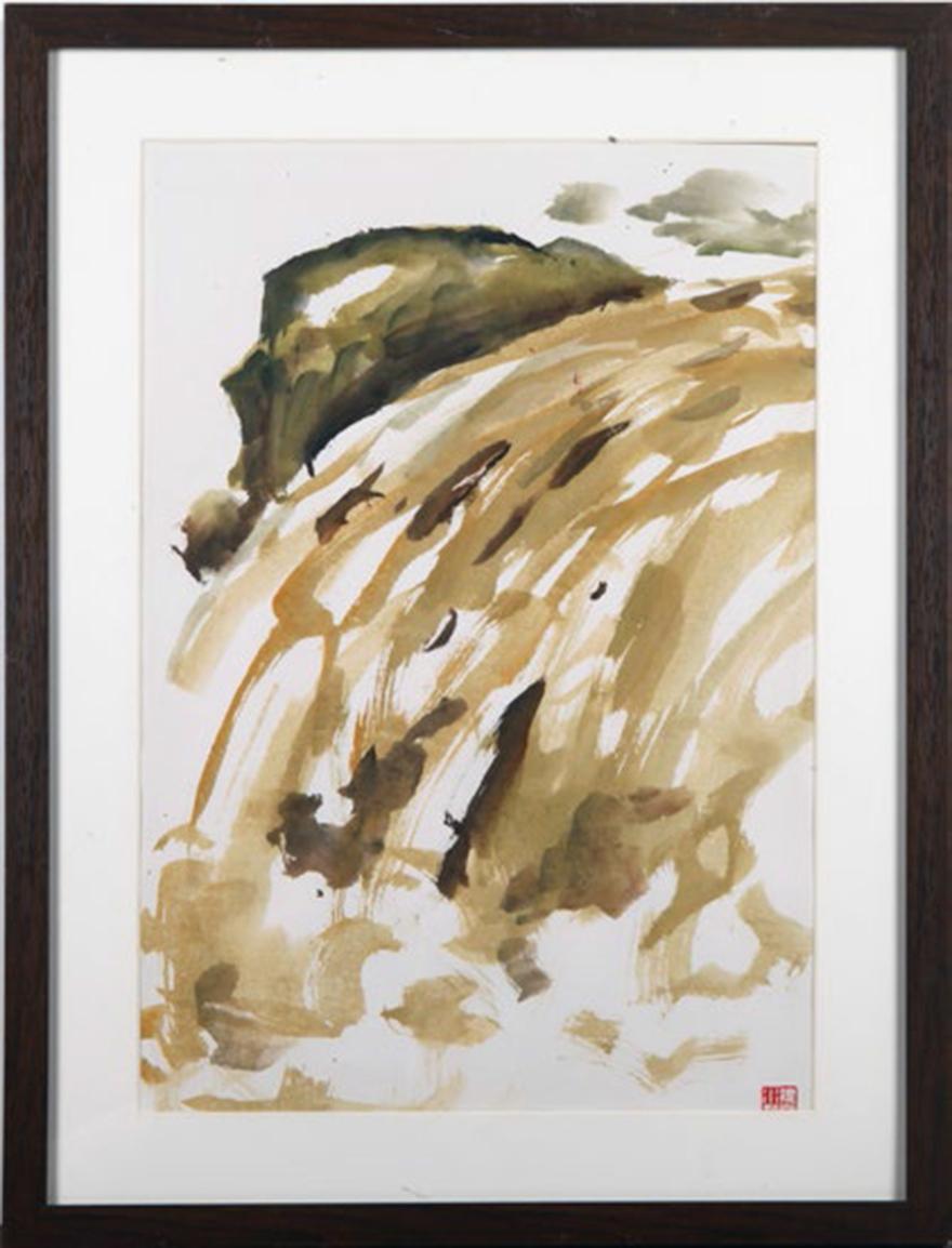 湍流 / 海崖(一组两幅)