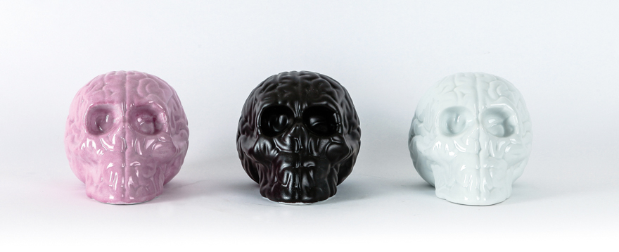 大脑骷髅(一组 3 只)