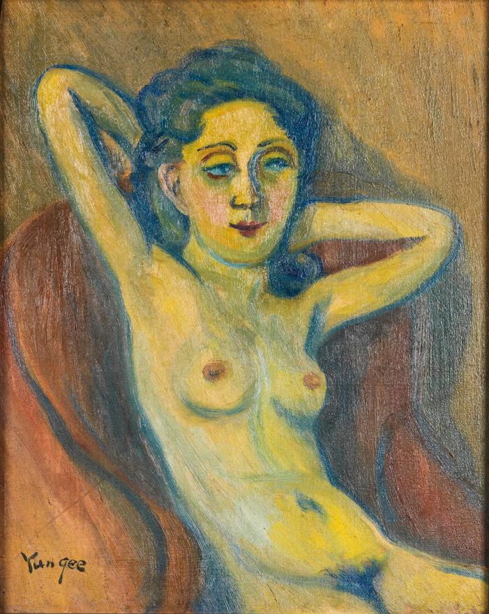 扶手椅上的裸女