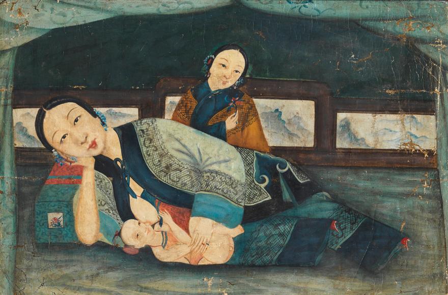 母子图(清代外销画)