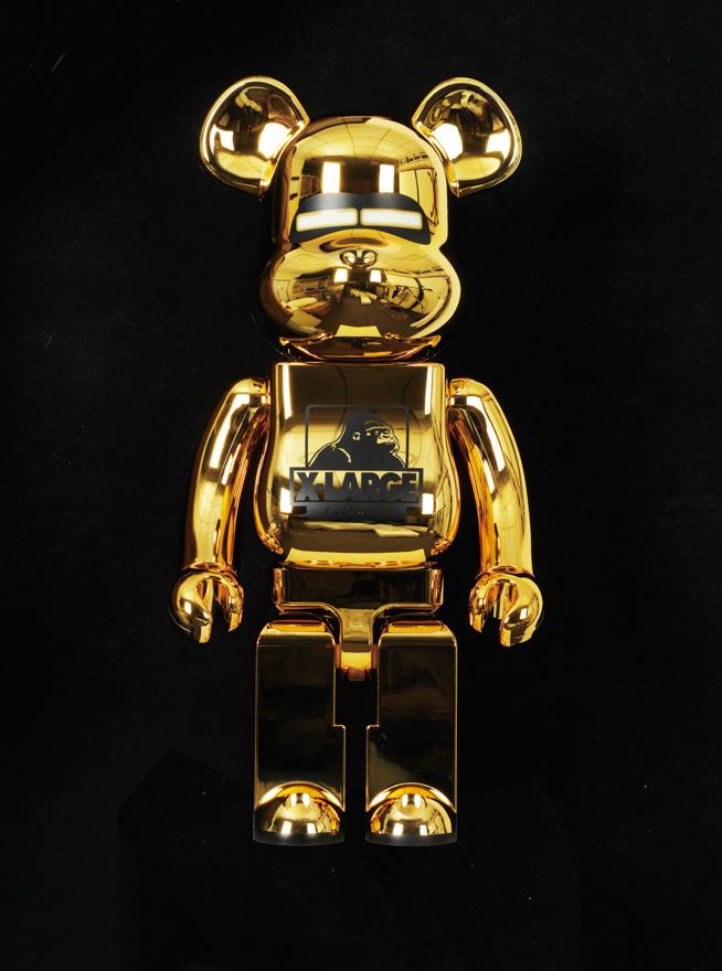 Bearbrick 金色1000% 金银400% 100% (一组五件)