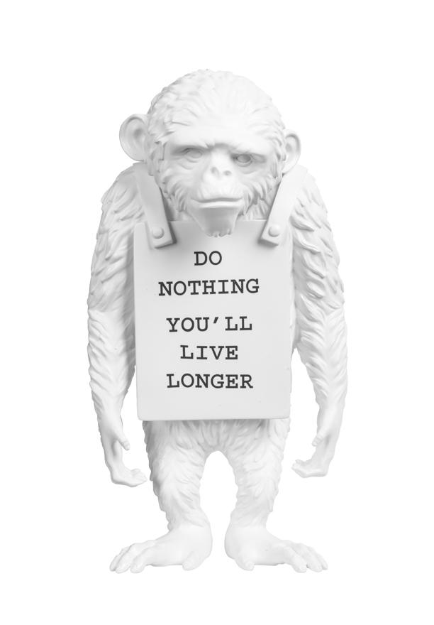 挂牌的猴子(白色)