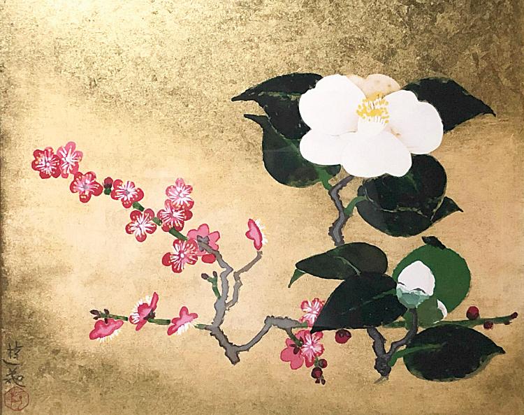 白椿·红梅