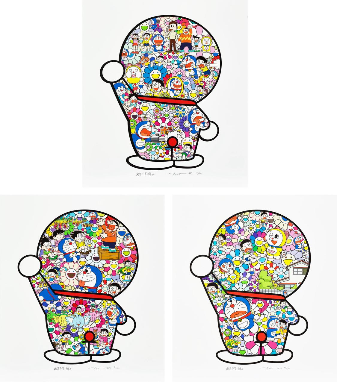Doraemon in the Field of Flower / Mr. Fujiko F. Fujio and Doraemon Are in the Field of Flowers / Doraemon's Daily life(一组三件)