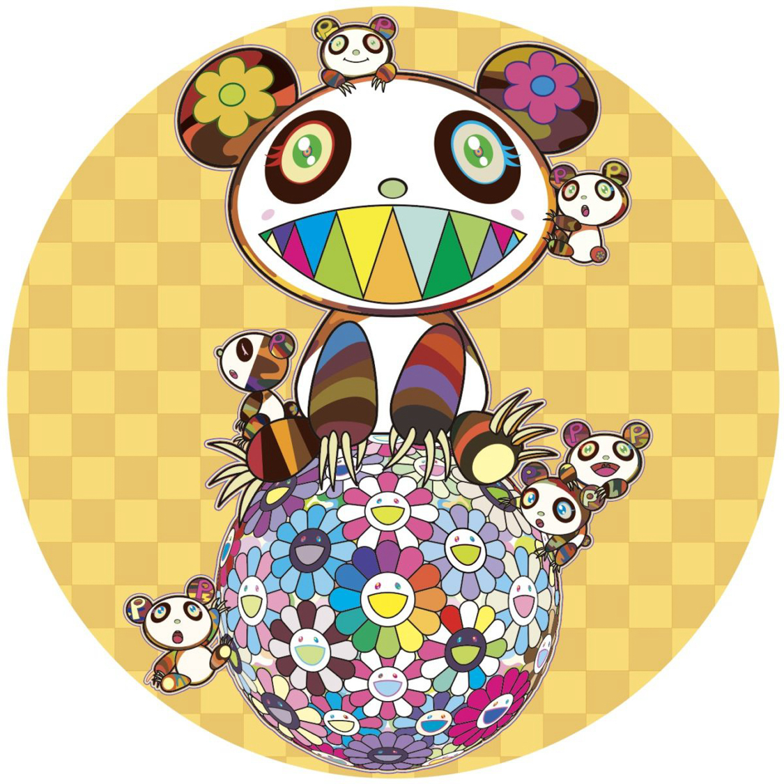 Panda and Child Panda and Flower Ball
