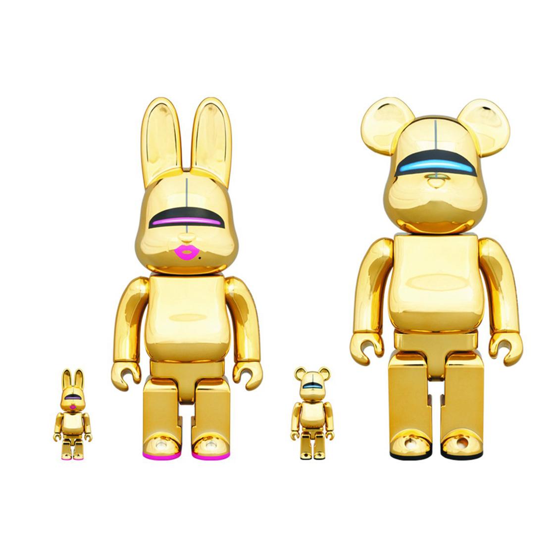 Sexy Robot Gold BE@RBRICK 400% & 100%,Sexy Robot Gold R@BBRICK 400% & 100%(一组四件)