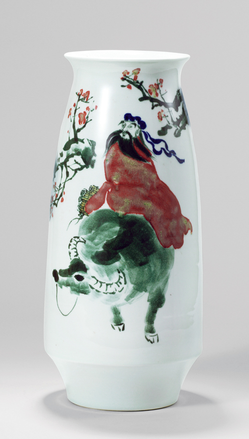 「紫气东来」瓷瓶