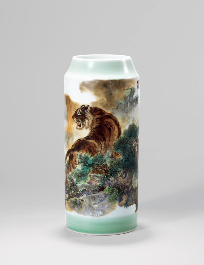 「虎图」瓷瓶