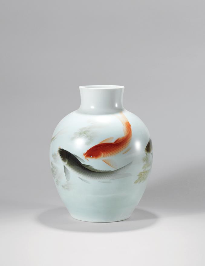 「龙门路上」瓷瓶