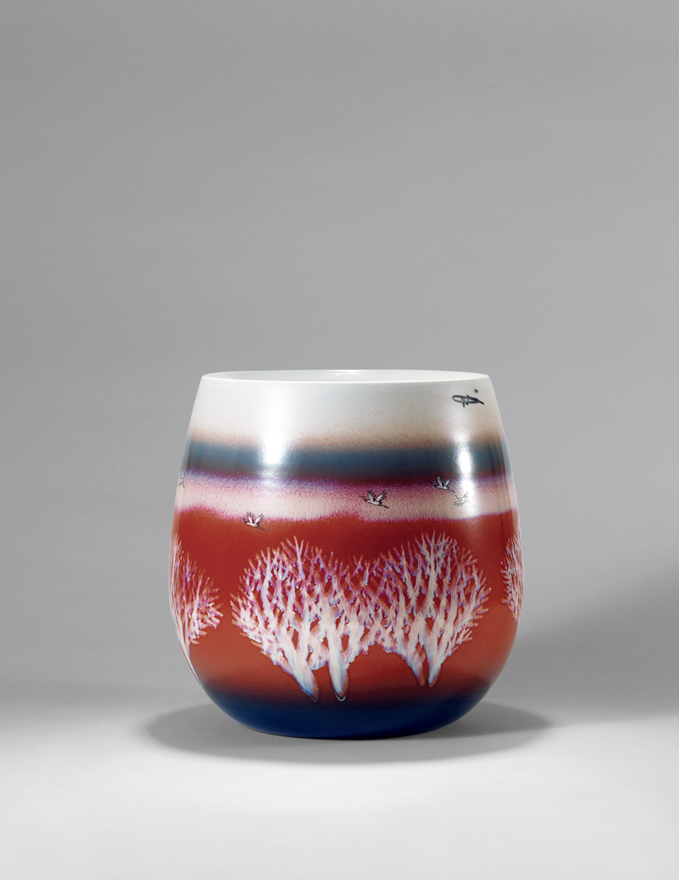 色釉装饰「红树林」瓷瓶