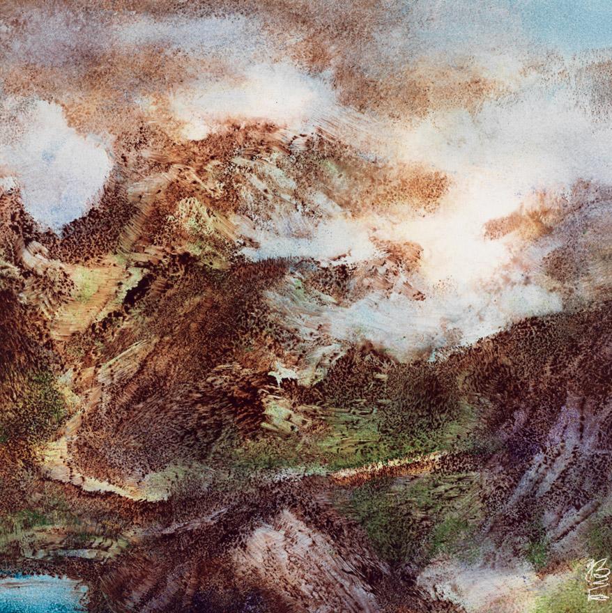 「山水印象」瓷板