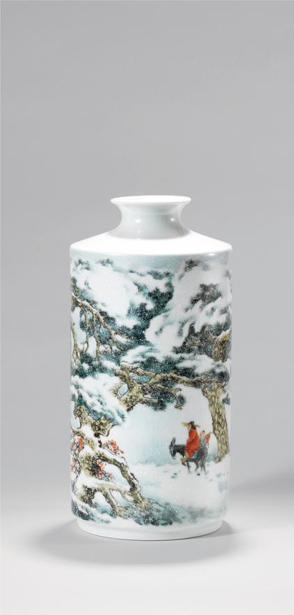 「踏雪寻梅」瓷瓶