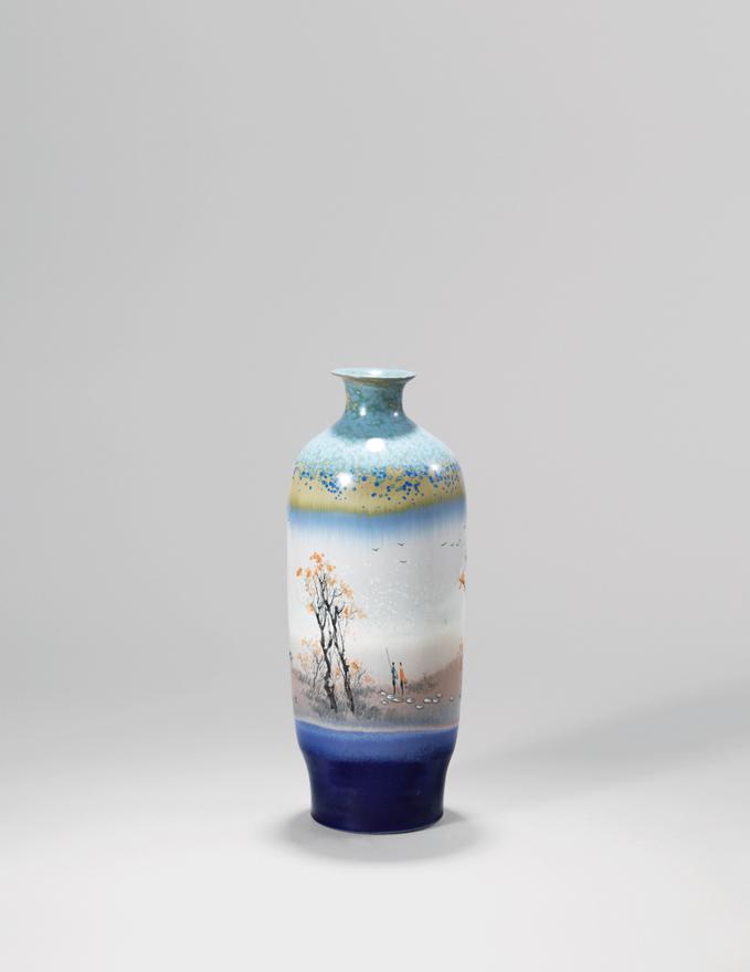 高温色釉「秋」瓷瓶