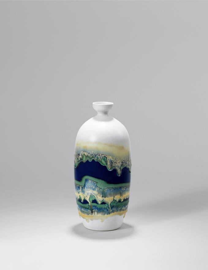 全釉下高温颜色釉「泽国系列」瓷瓶