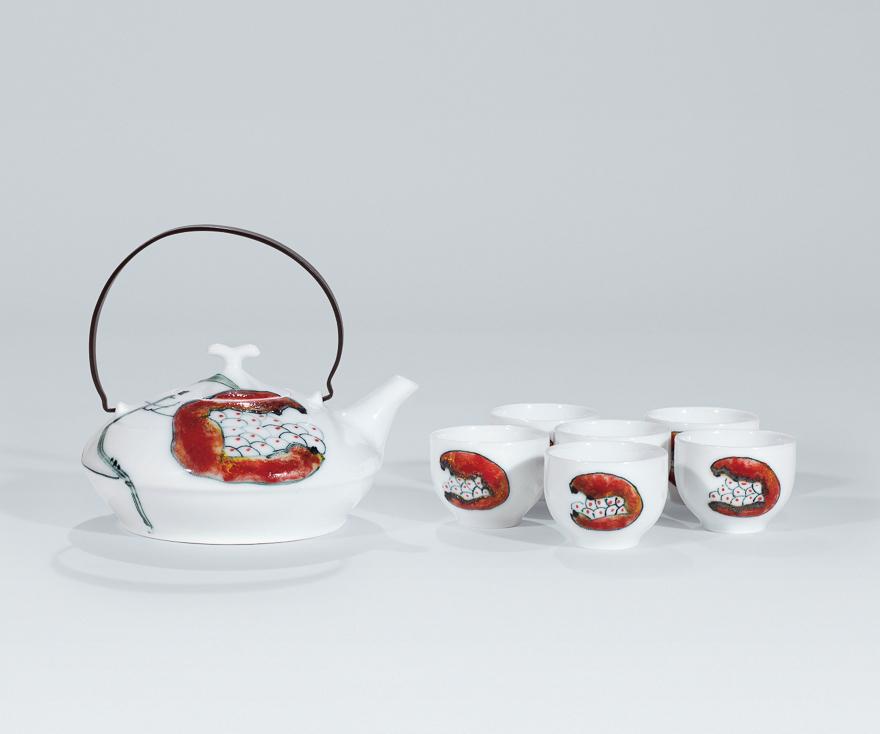 高温颜色釉七头茶具