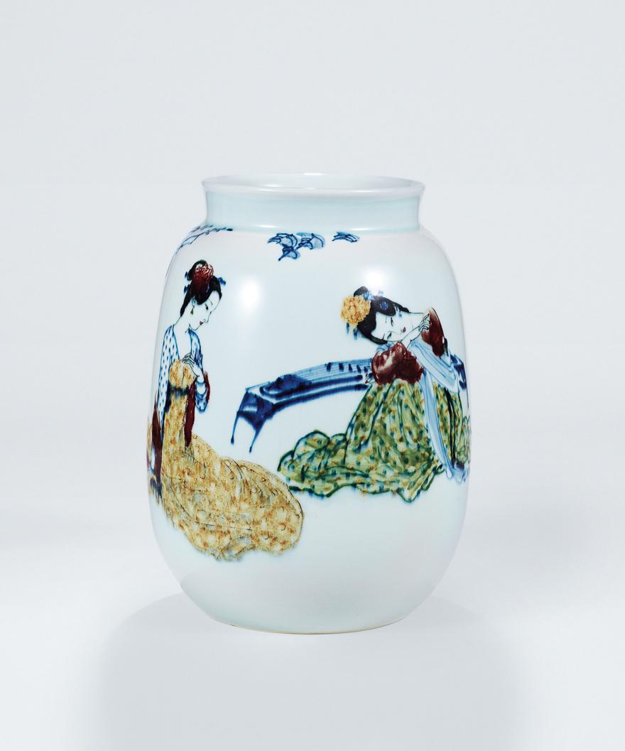 高温色釉「甜葡萄」瓷瓶
