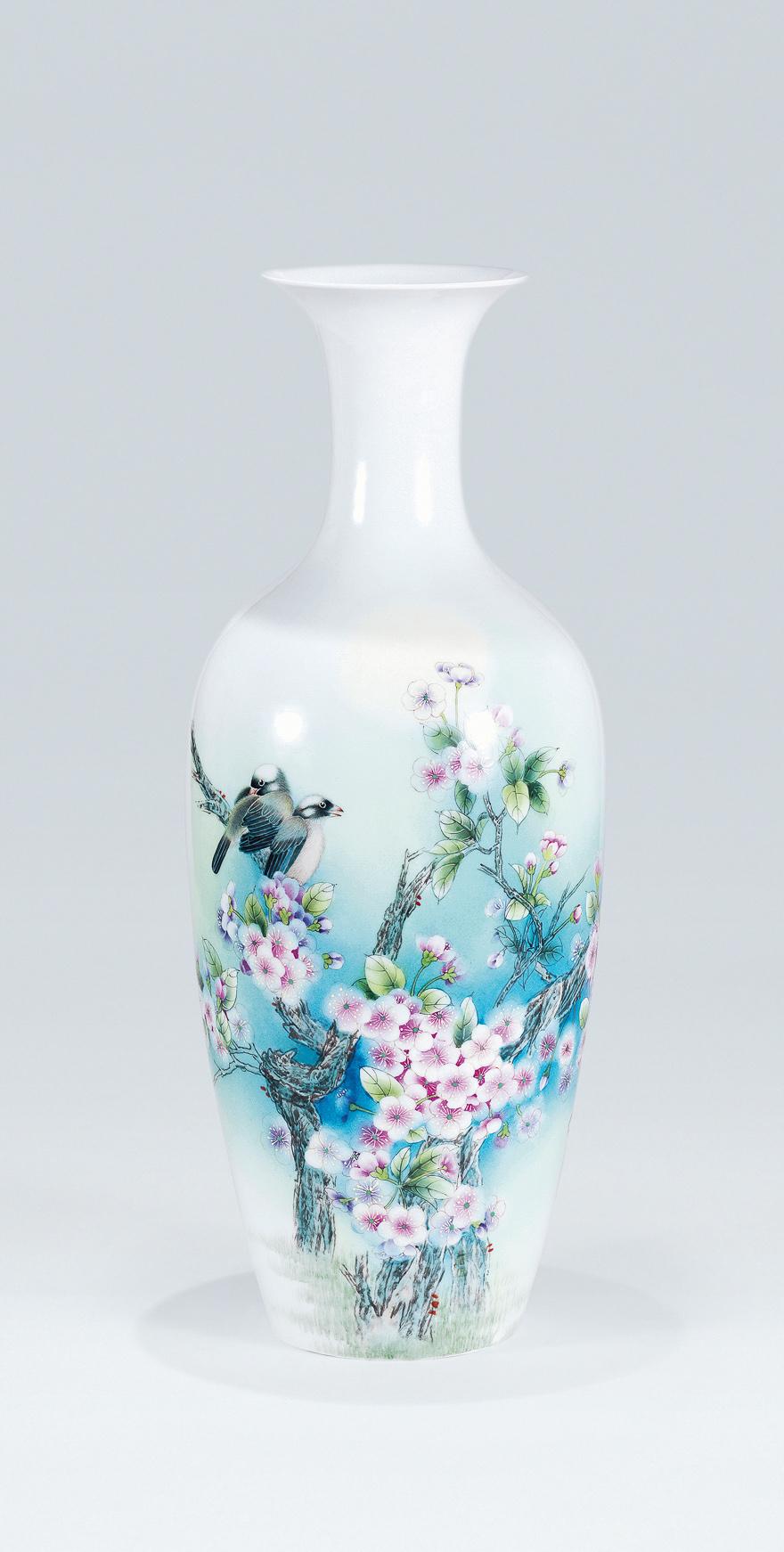 「移花月影」瓷瓶