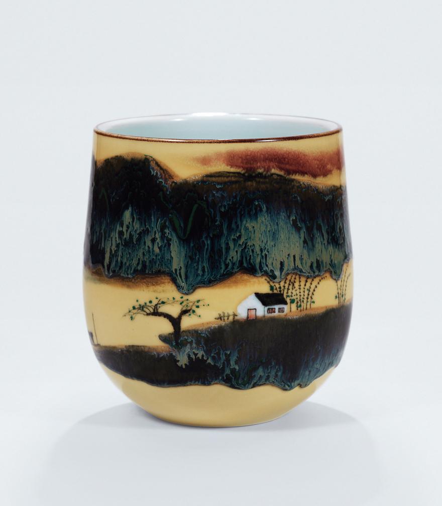 高温色釉「故乡」瓷瓶