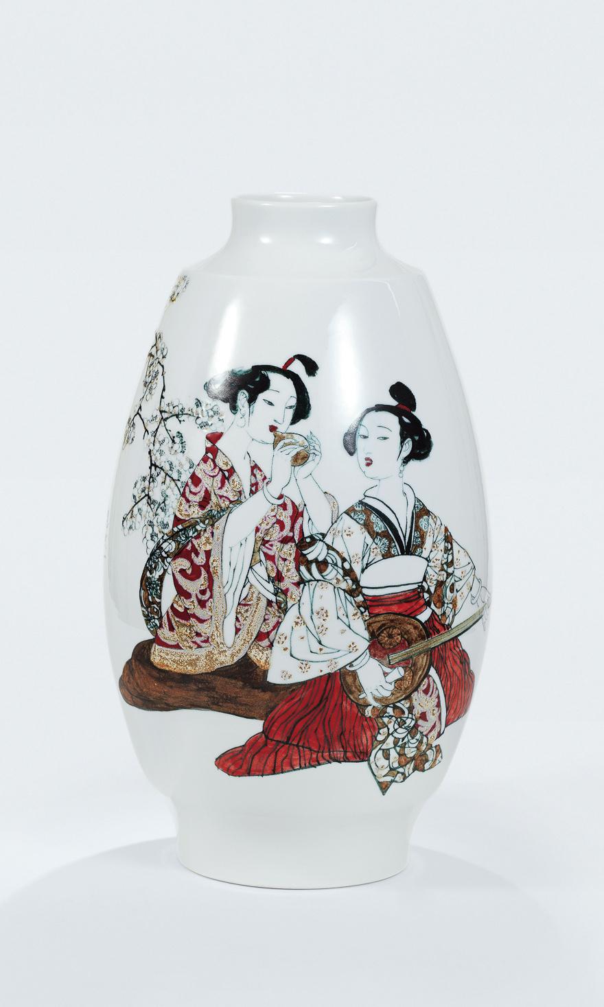 「暗香浮动」瓷瓶