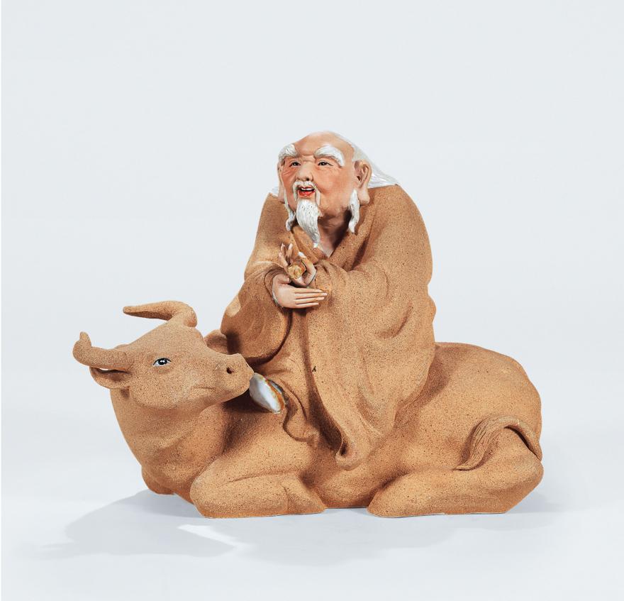 「老子出关」雕塑