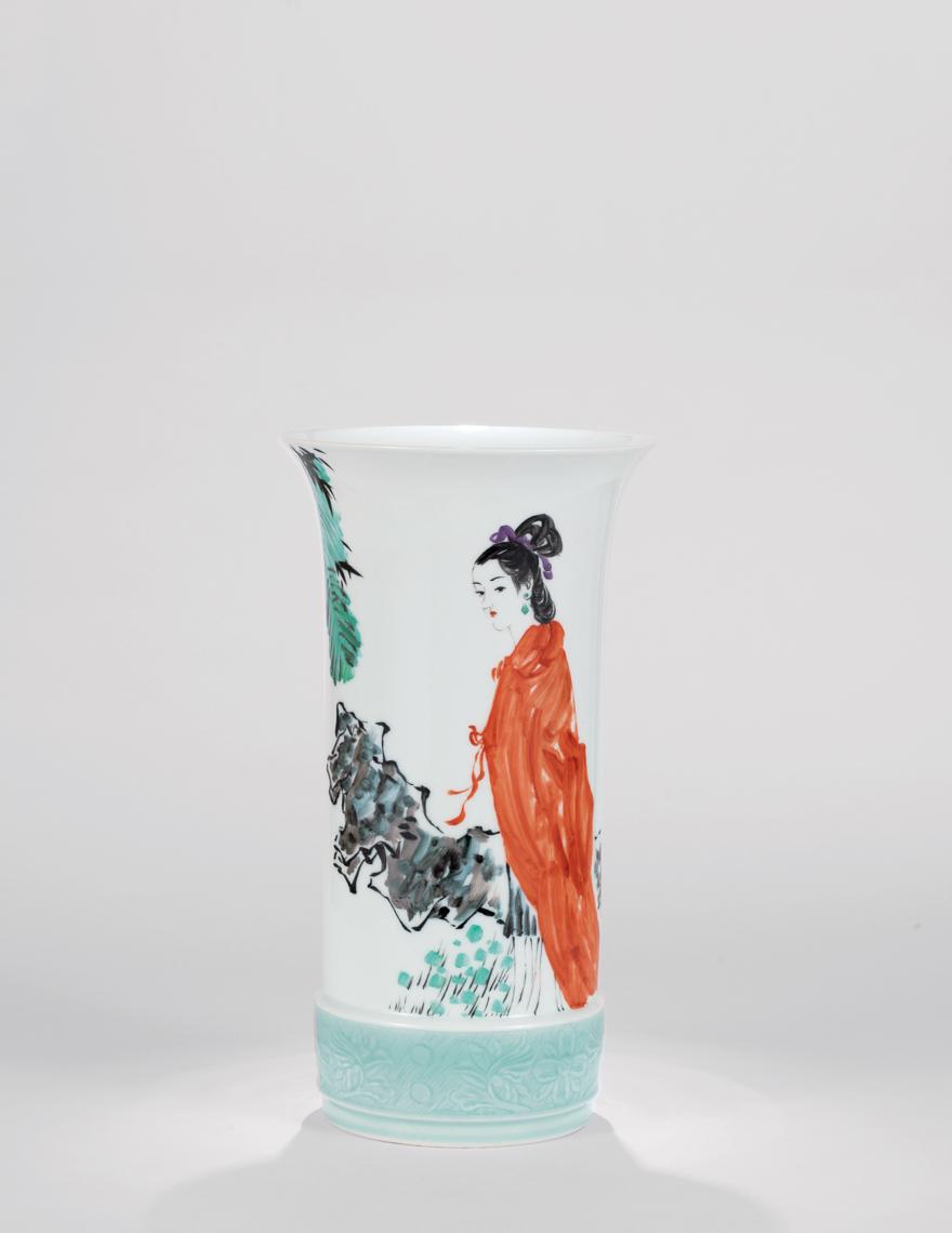 李菊生 「蓦然回首」瓷瓶