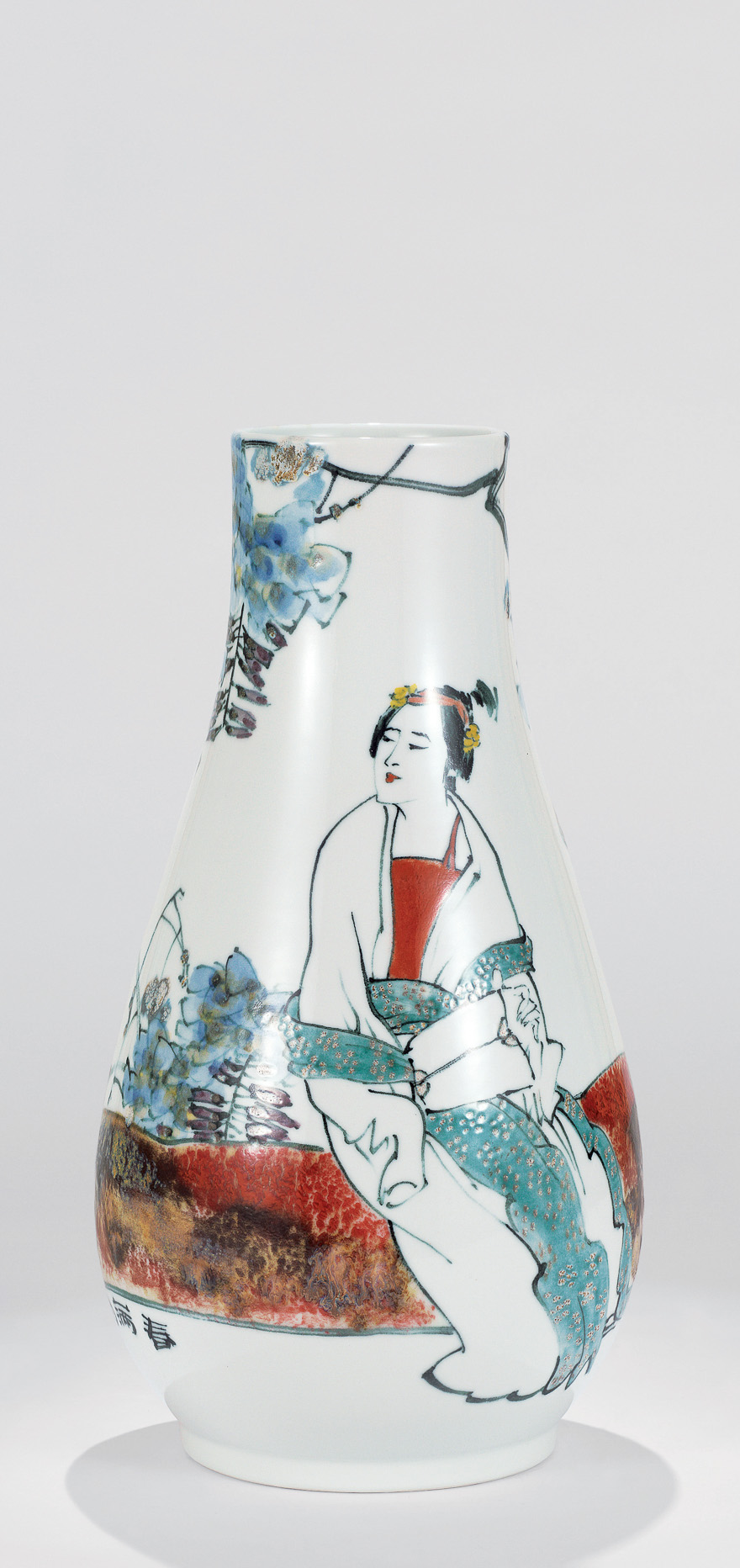 高温色釉瓷瓶